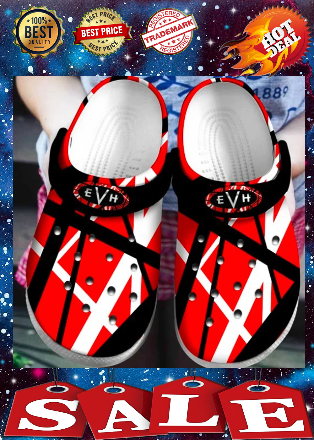VAN HALEN crocs shoes