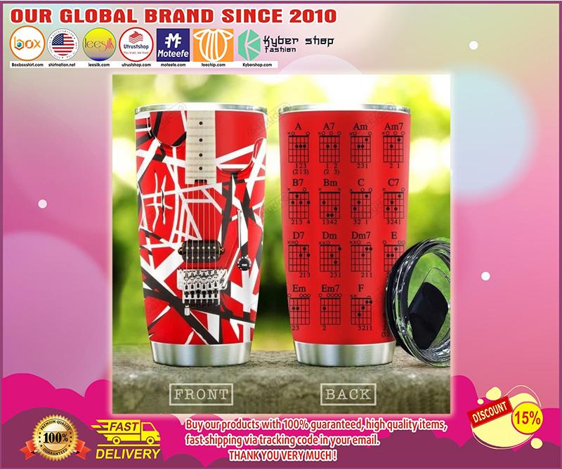 Van Halen red guitar chord tumbler - LIMITED EDITION BBS