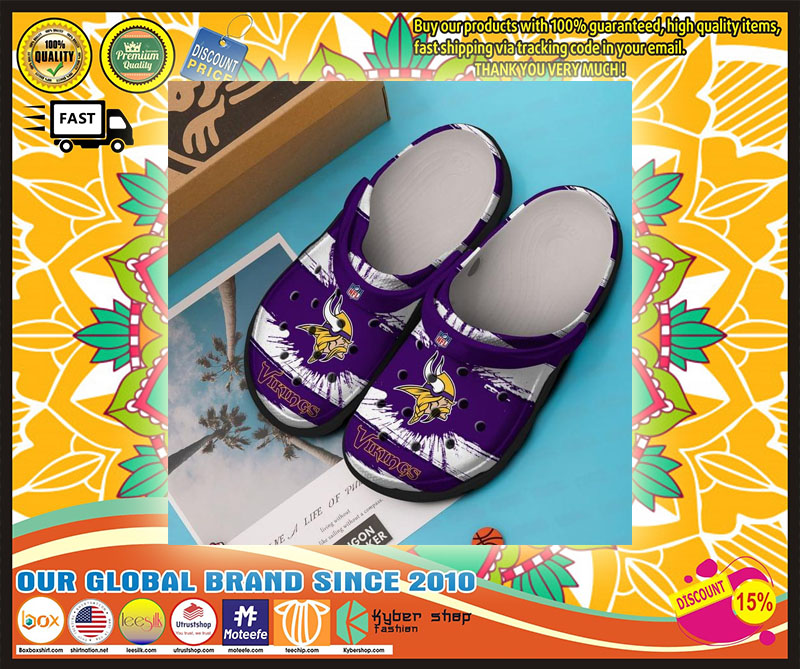 Vikings croc shoes crocband - LIMITED EDITION