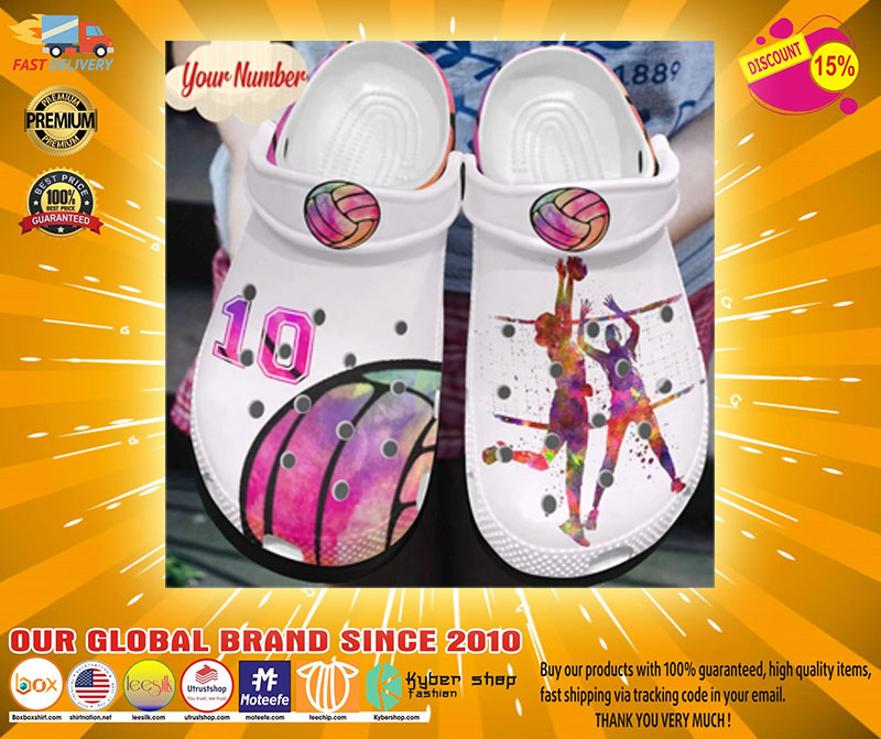 Volleyball custom Personalized number croc shoes Crocband - LIMITED EDITION