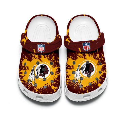 Washington redskins crocband crocs shoes