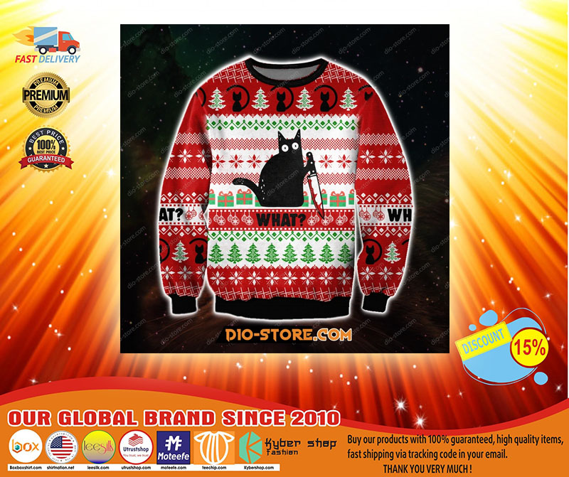 What black cat ugly Christmas sweater - LIMITED EDITION