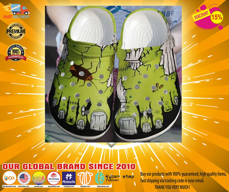 Zombie feet crocs shoes crocband-LIMITED EDITION