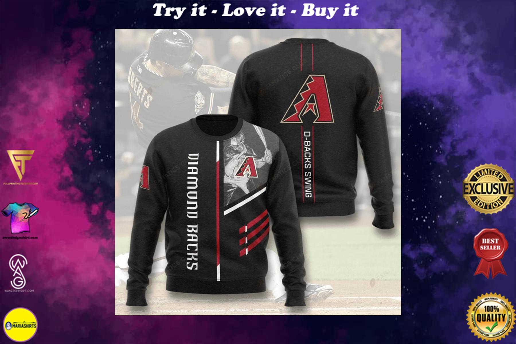 [special edition] arizona diamondbacks d-backs swing full printing ugly sweater - maria