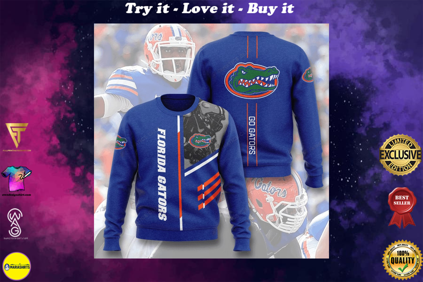 [special edition] florida gators football go gators full printing ugly sweater - maria