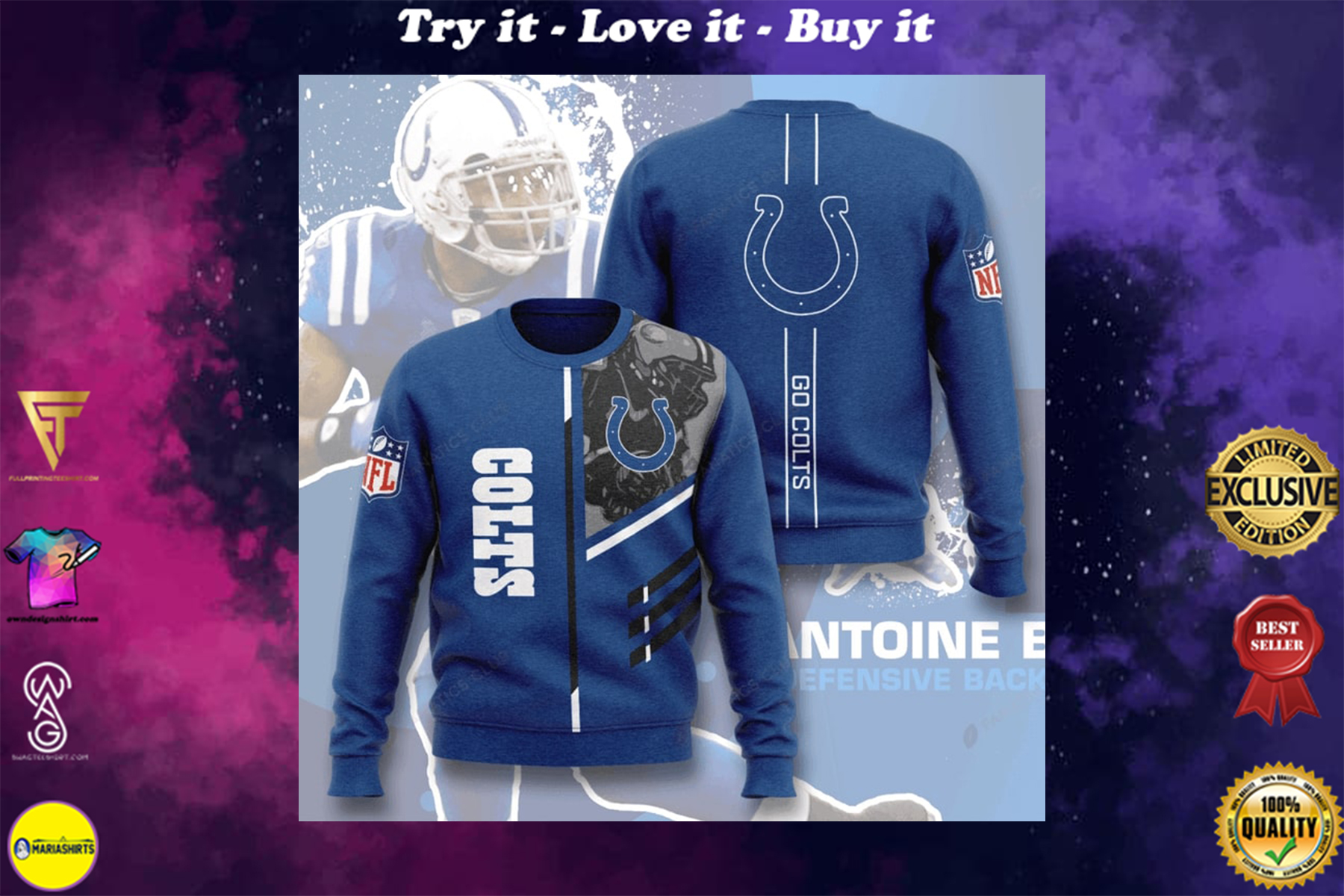 [special edition] national football league indianapolis colts go colts full printing ugly sweater - maria
