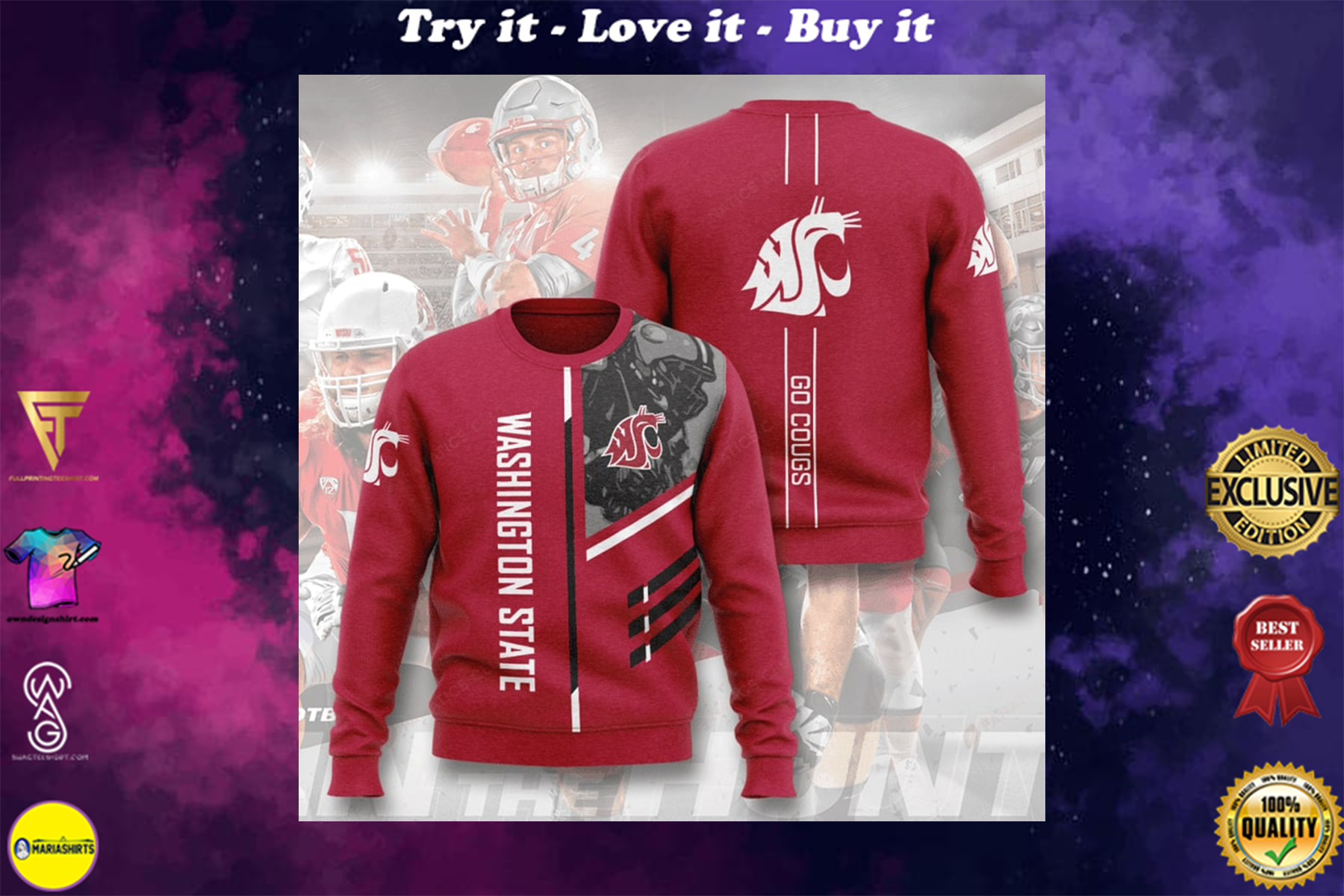 [special edition] washington state cougars football go cougs full printing ugly sweater - maria