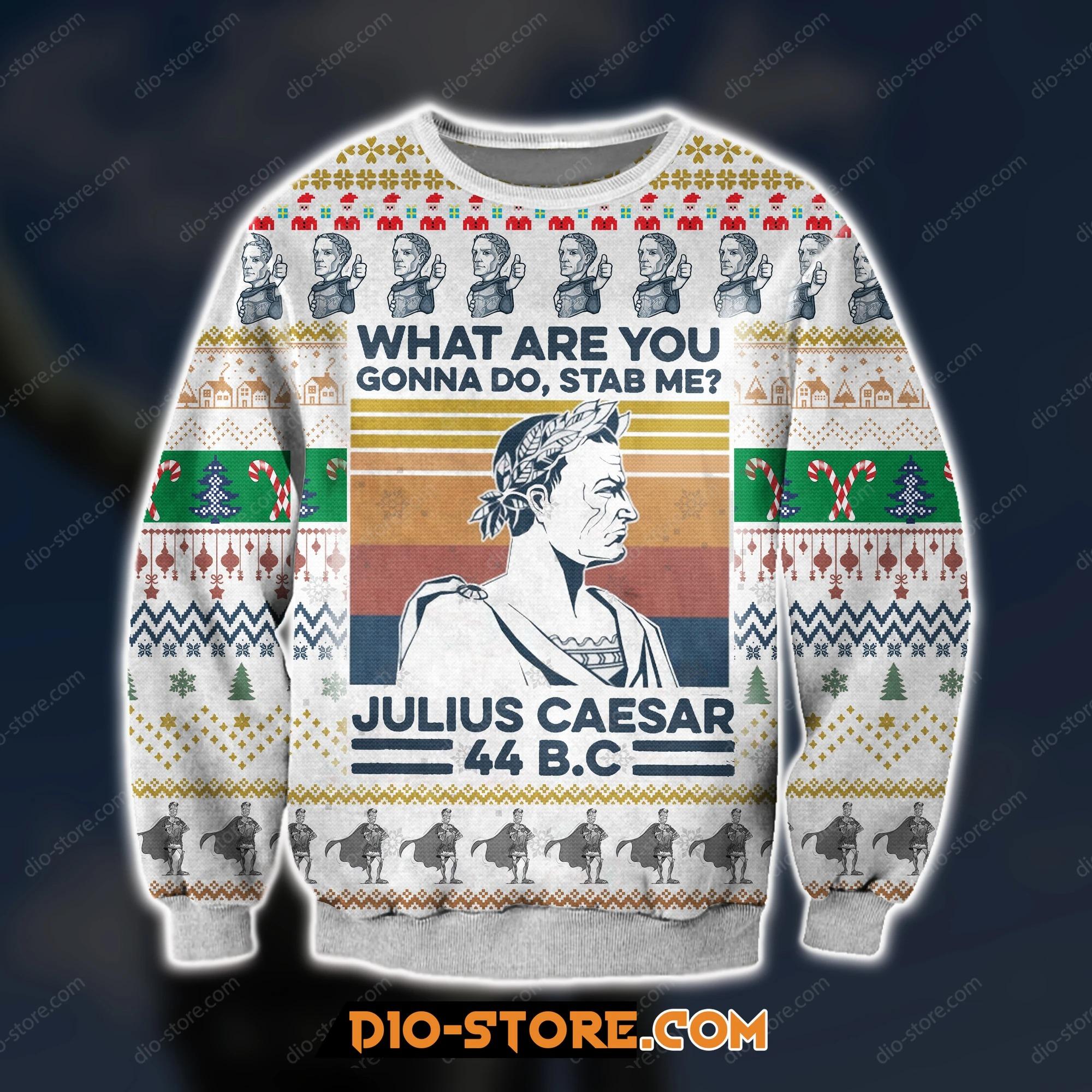 3D print knitting pattern julius caesar ugly christmas sweater