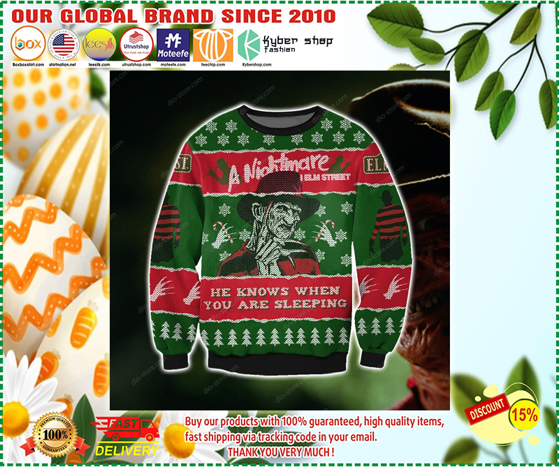 A NIGHTMARE ON ELM STREET UGLY CHRISTMAS SWEATER - LIMITED EDITION BBS