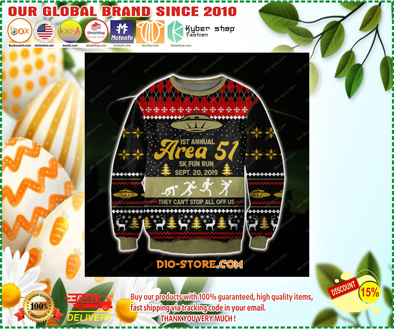 AREA 51 3D KNITTING PATTERN PRINT UGLY CHRISTMAS SWEATER – LIMITED EDITION