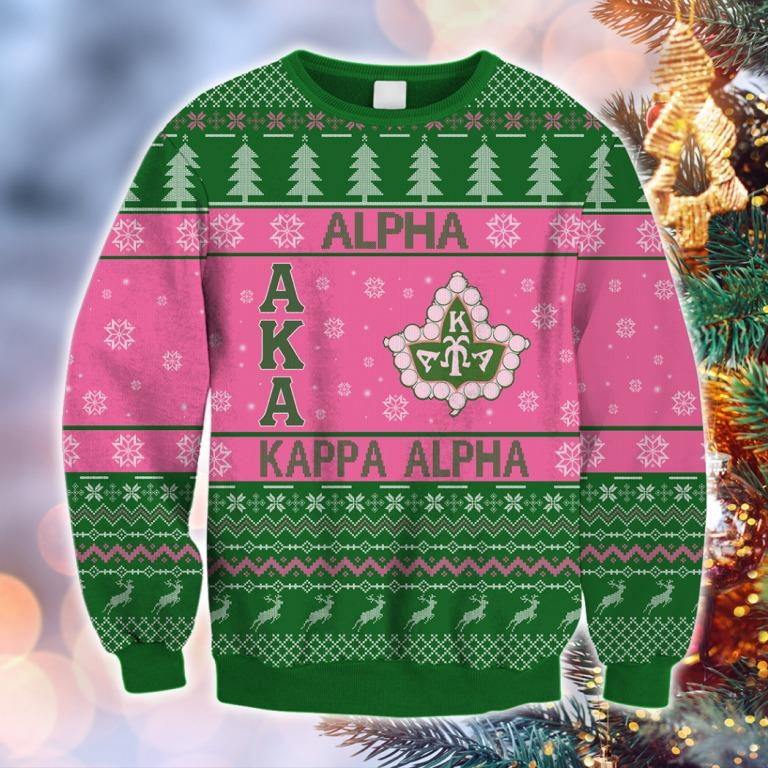 Alpha kappa alpha christmas all over print 3d hoodie