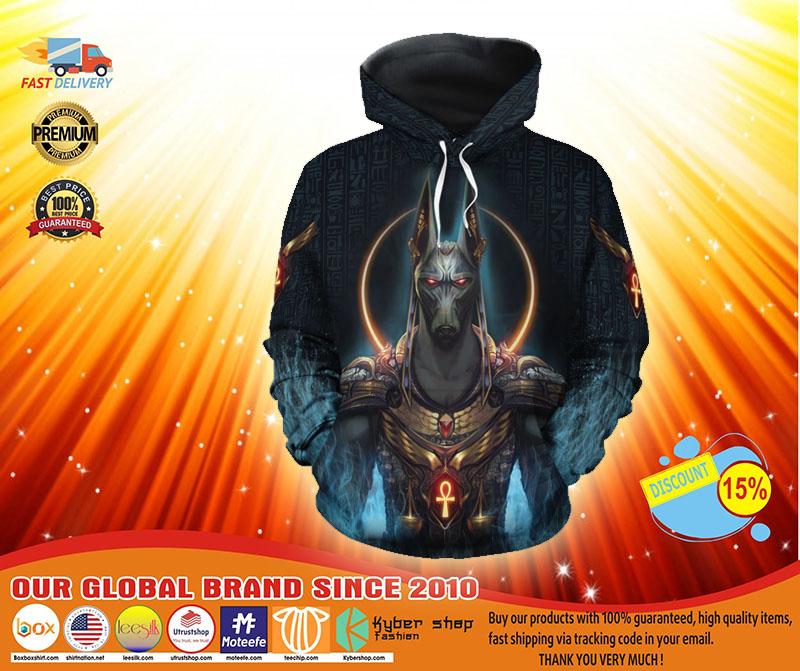 Anubis God all over print 3d hoodie
