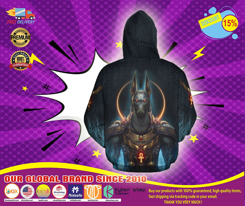 Anubis God all over print 3d hoodie - LIMITED EDITION