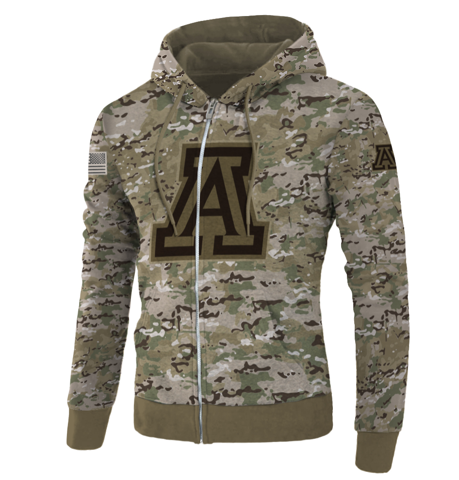 Army camo Arizona Wildcats all over printed 3D hoodie - dnstyles