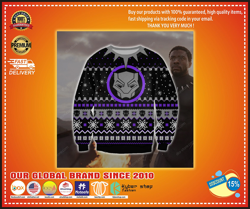BLACK PANTHER UGLY CHRISTMAS SWEATER - LIMITED EDITION BBS