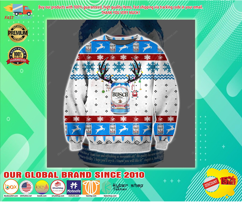 BUSCH BEER UGLY CHRISTMAS SWEATER - LIMITED EDITION BBS