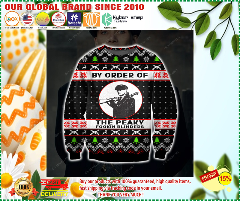 BY ORDER OF THE PEAKY BLINDERS UGLY CHRISTMAS SWEATER - LIMITED EDITION BBS