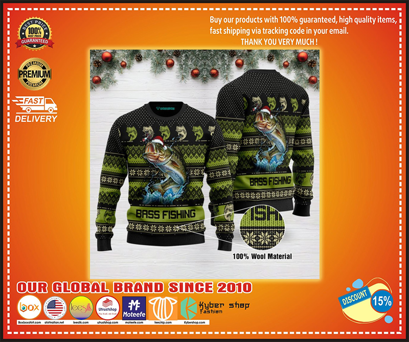 Bass fishing ugly christmas sweater - LIMITED EDITION BBS