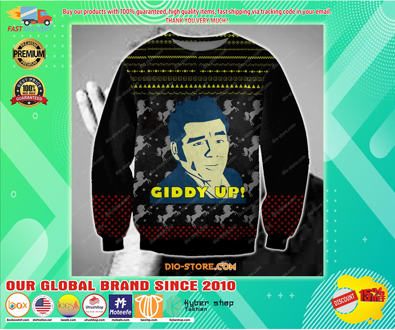 COSMO KRAMER GIDDY UP UGLY CHRISTMAS SWEATER - LIMITED EDITION BBS