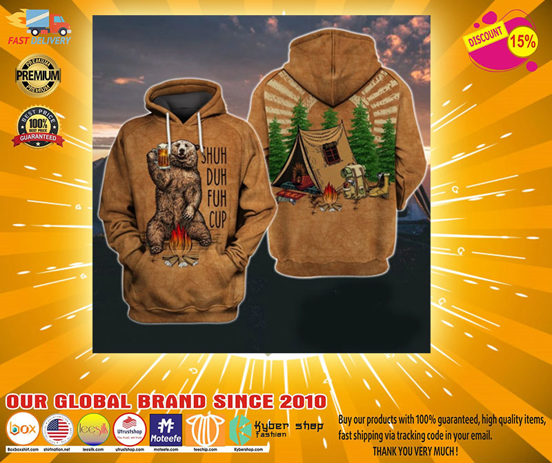 Camping bear shuh duh fuh 3d over print hoodie - LIMITED EDITION