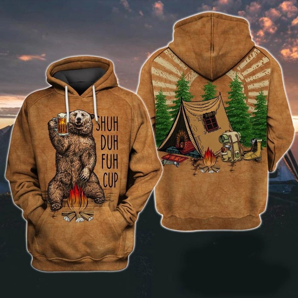 Camping beer shuh duh fuh cup hoodie