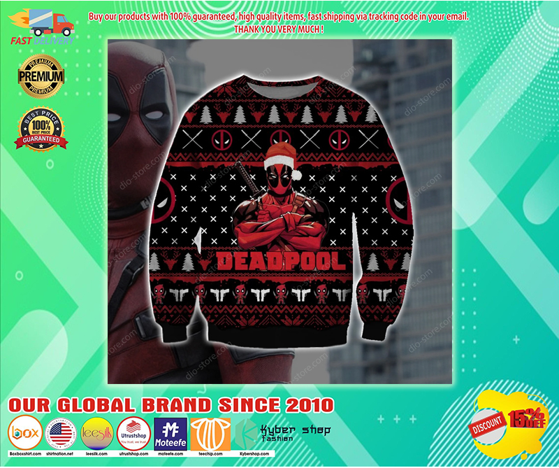 DEADPOOL UGLY CHRISTMAS SWEATER - LIMITED EDITION BBS