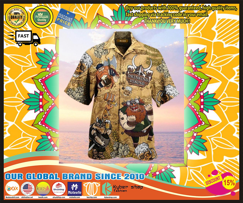 Drinking viking hawaiian shirt- LIMITED EDITION