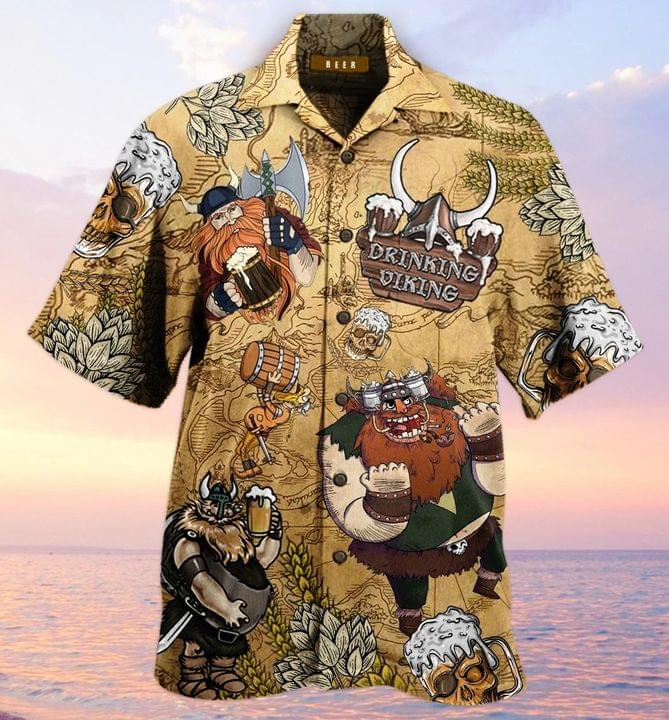 Drinking viking hawaiian shirt