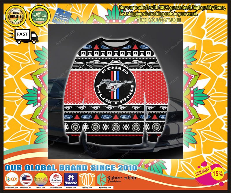 FORD MUSTANG UGLY CHRISTMAS SWEATER – LIMITED EDITION