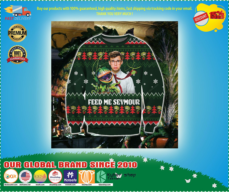 Feed me seymour ugly christmas sweater – LIMITED EDITION