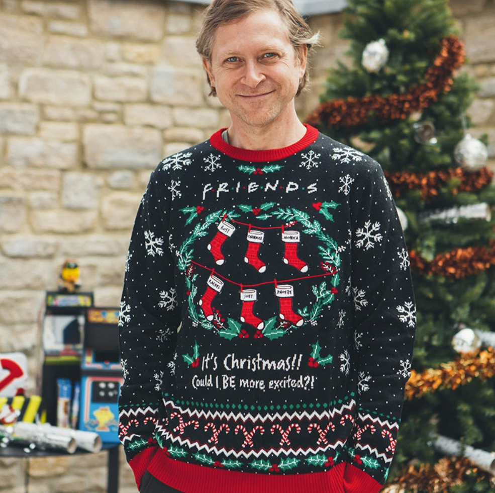 Friends it's Christmas could be more excited ugly sweater