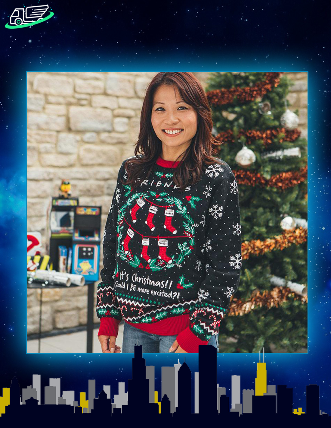 Friends it's christmas could i be more excited ugly christmas sweater and jumper
