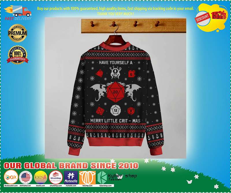 GAME MERRY LITTLE CRIT-MAS KNIT SWEATER - LIMITED EDITION
