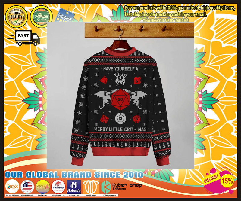 GAME MERRY LITTLE CRIT-MAS KNIT SWEATER