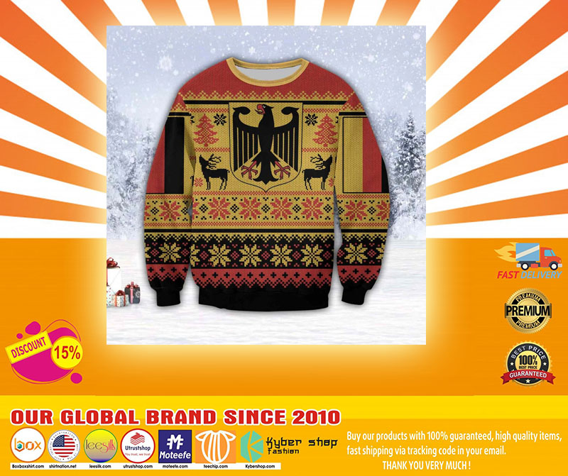 GERMANY 3D ALL OVER PRINT UGLY CHRISTMAS SWEATER - LIMITED EDITION