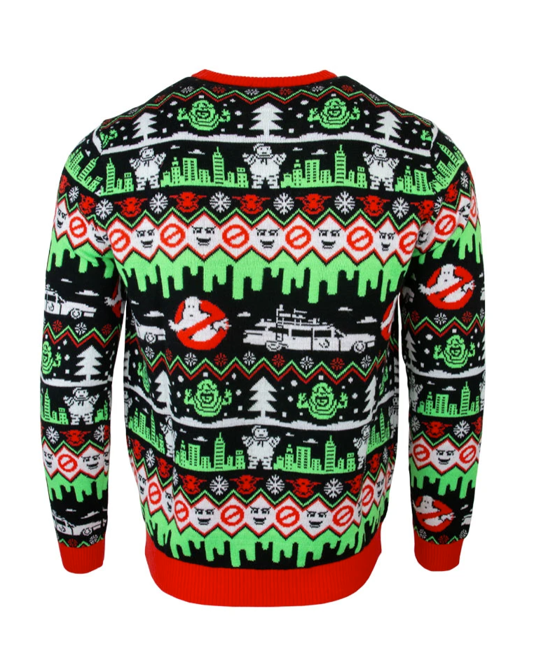 Ghostbusters Merry Christmas ugly sweater - dnstyles