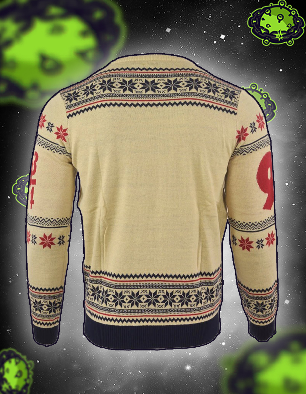 Harry potter hogwarts express christmas jumper and ugly sweater back