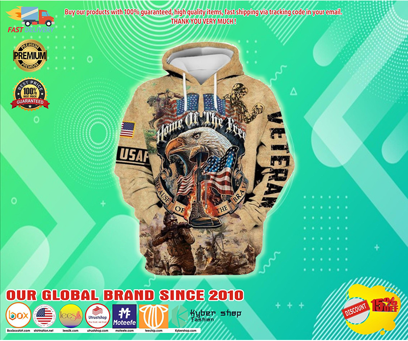 Home of the free because of the brave 3d hoodie - LIMITED EDITION BBS