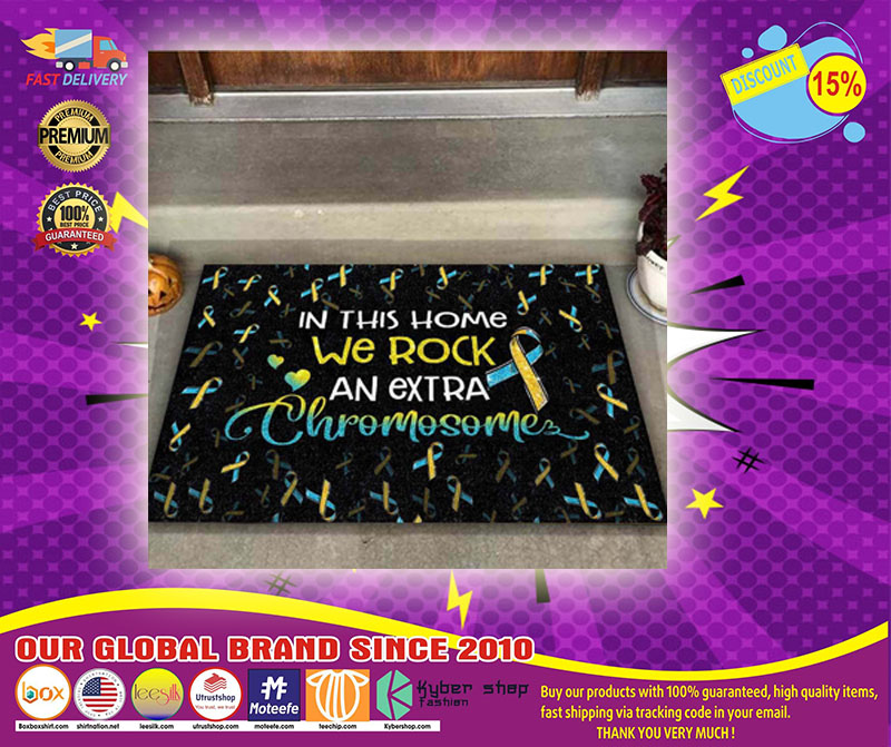 In this home we rock an extra chromosome doormat - LIMITED EDITION