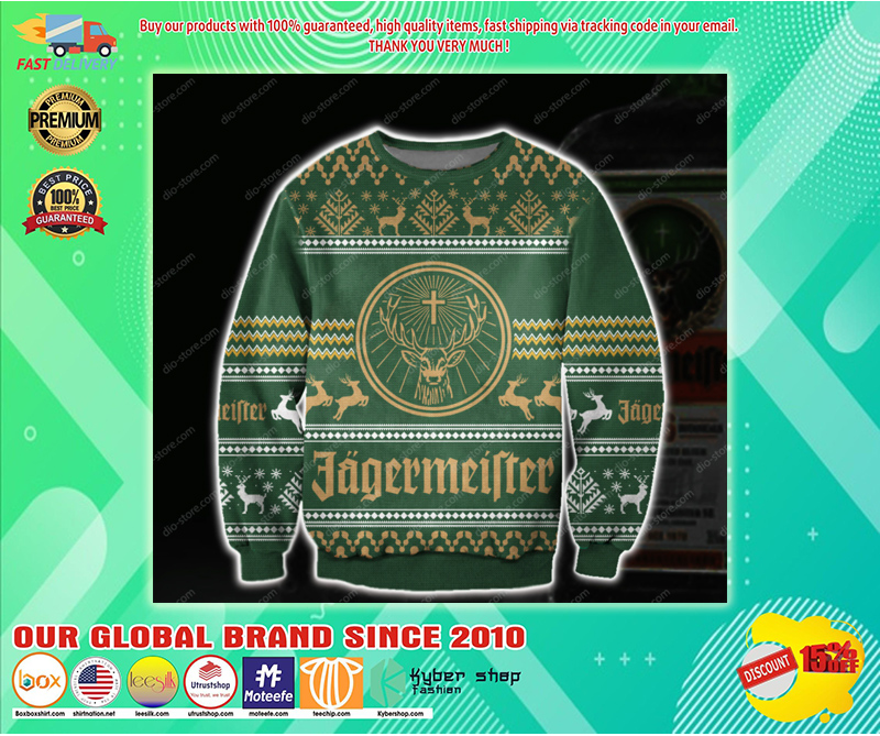JAGERMEISTER UGLY CHRISTMAS SWEATER - LIMITED EDITION BBS