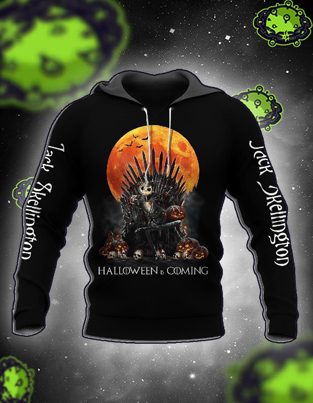 Jack Skellington Halloween Is Coming 3D Hoodie