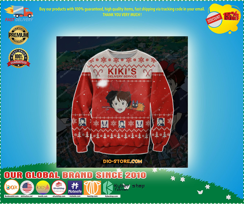 KIKI'S DELIVERY SERVICE UGLY CHRISTMAS SWEATER – LIMITED EDITION