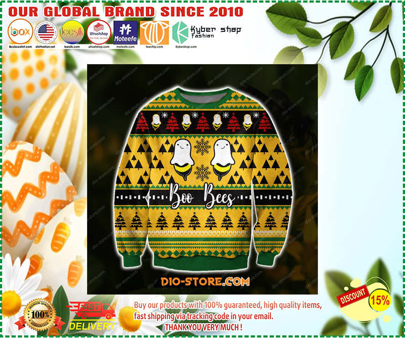 KNITTING PATTERN BOO BEES 3D PRINT UGLY CHRISTMAS SWEATER – LIMITED EDITION
