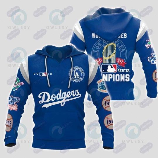 LA Dodgers world series champion 3D HOODIE