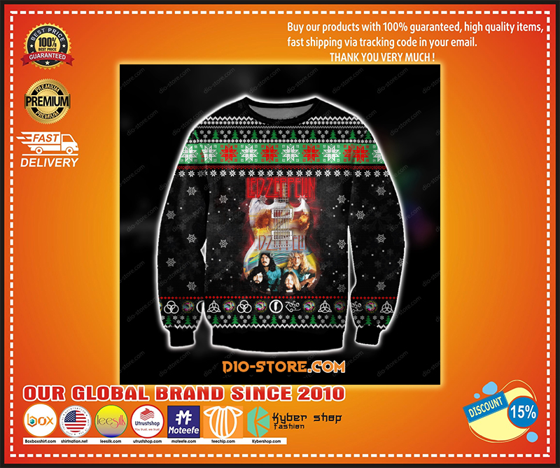 LED ZEPPELIN UGLY CHRISTMAS SWEATER - LIMITED EDITION BBS
