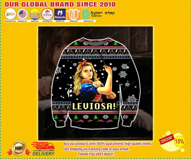LEVIOSA- HARRY POTTER UGLY CHRISTMAS SWEATER - LIMITED EDITION BBS
