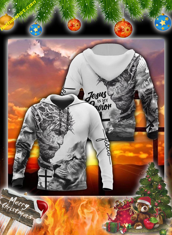 Lion jesus is my savior 3d all over printed hoodie