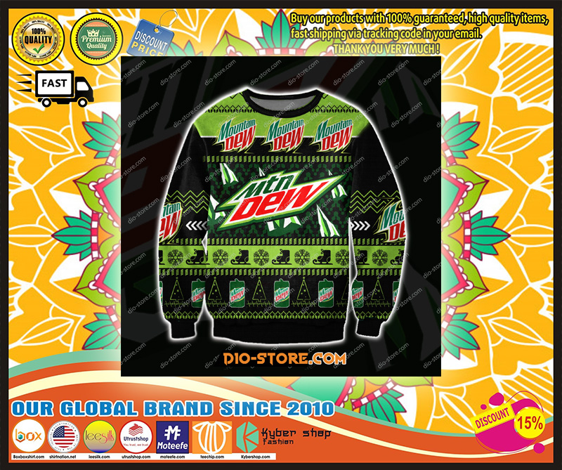 MOUNTAIN DREW 3D ALL OVER UGLY CHRISTMAS SWEATER – LIMITED EDITION