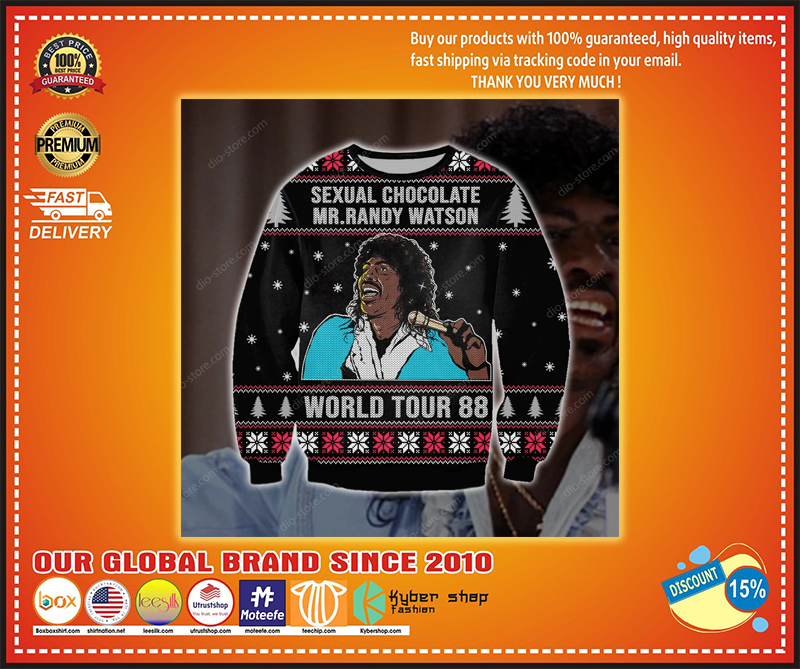 MR. RANDY WATSON SEXUAL CHOCOLATE WORLD TOUR 88 UGLY CHRISTMAS SWEATER - LIMITED EDITION BBS