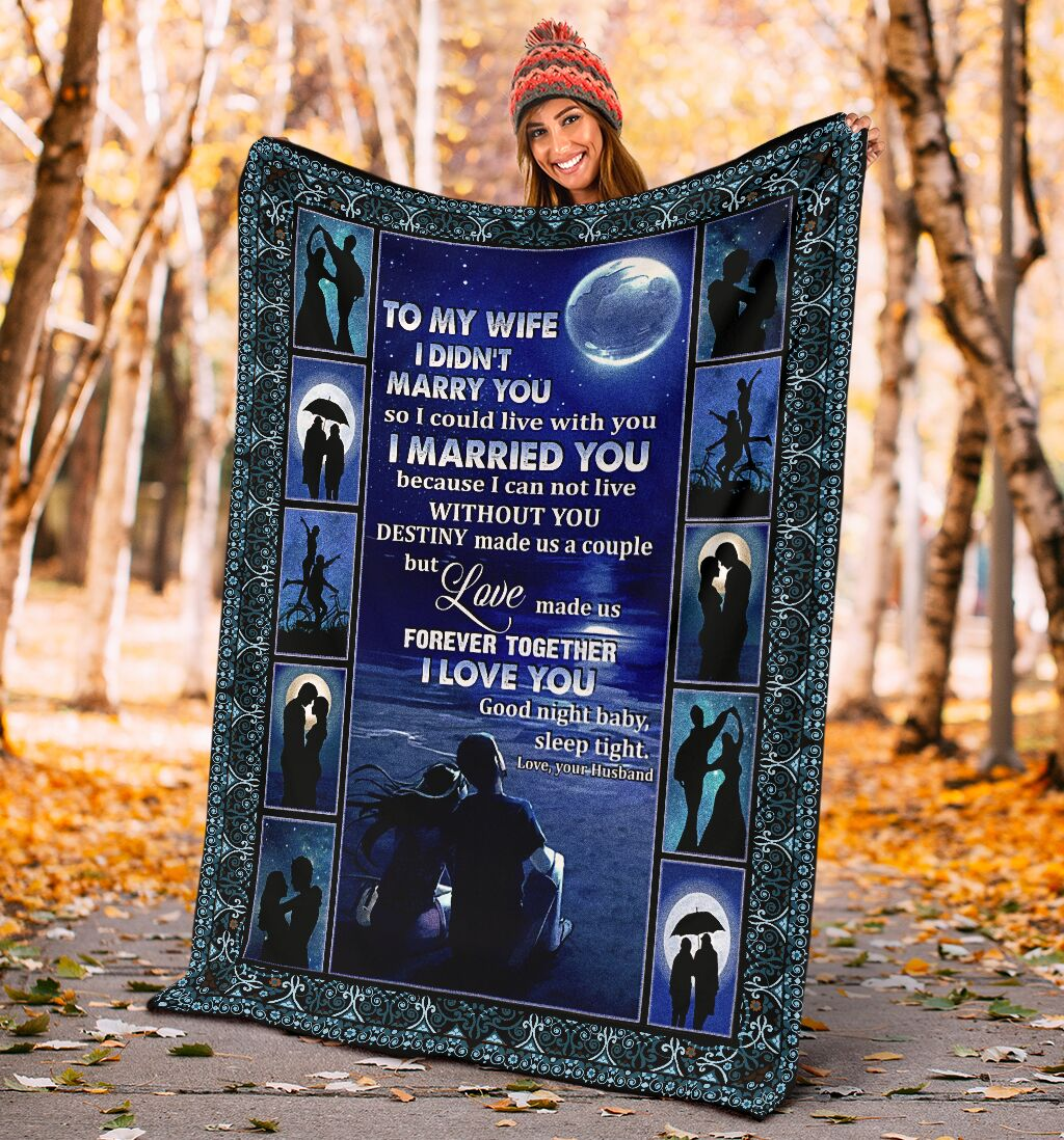 Moon night to my wife i didn't marry you blanket